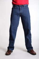 STOCK # 180 DARK RIVER ROAD STONEWASH STRETCH BLUE JEANS SIZES 32-42
