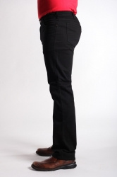 STOCK # 183 RIVER ROAD STRETCH BLACK JEAN SIZES 32-54