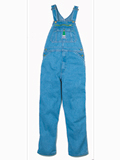 STOCK # MOV14006 RELAXED FIT STONE WASHED DENIM BIB SIZES 30-48