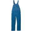 STOCK # 272.42 INDIGO DENIM, ENZYME WASHED, BIB OVERALL, ZIPPER  FLY SIZES 48-52